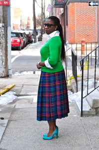 12. Plaid Pleats