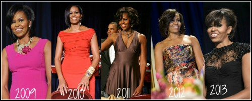 Michelle-Obama-white-house-Correspondents-dinner-2009-2010-2011-2012-2013-2-500x201